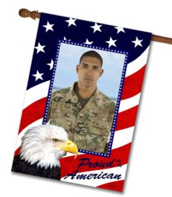 Proud American Eagle - Photo House Flag - 28'' x 40''