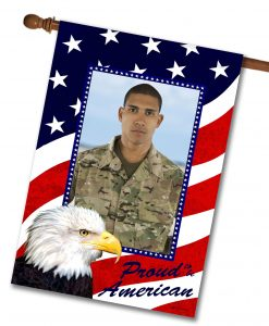 Proud American Eagle - Photo House Flag - 28'' x 40''