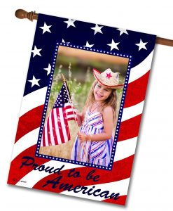 Proud to be American - Photo House Flag - 28'' x 40''