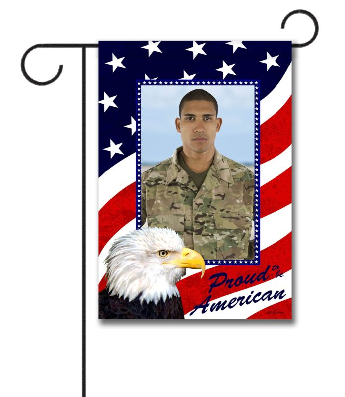 Proud American Eagle- Photo Garden Flag - 12.5'' x 18''