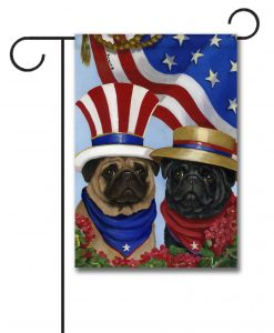 Pug American Pride - Garden Flag - 12.5'' x 18''