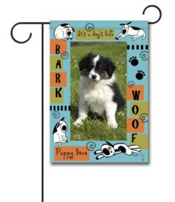 Puppy Love- Photo Garden Flag - 12.5'' x 18''