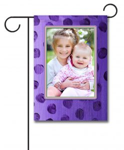 Purple Polka Dots - Photo Garden Flag - 12.5'' x 18''