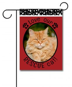 Rescue Cat Red - Photo Garden Flag - 12.5'' x 18''