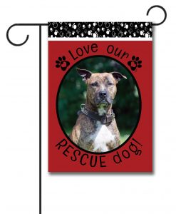 Rescue Dog Red - Photo Garden Flag - 12.5'' x 18''