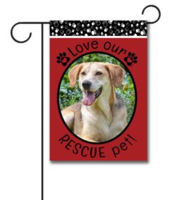 Rescue Pet Red - Photo Garden Flag - 12.5'' x 18''