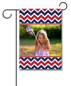 Patriotic Chevron- Photo Garden Flag - 12.5'' x 18''