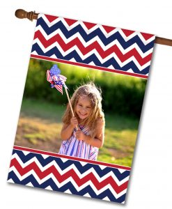 Patriotic Chevron - Photo House Flag - 28'' x 40''
