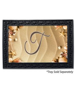 Seashell Greetings Monogram Doormat