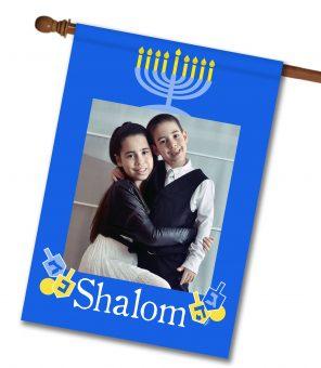 """Shalom - Photo House Flag 28""""x40"""""""