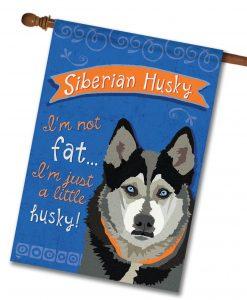 Siberian Husky- House Flag - 28'' x 40''