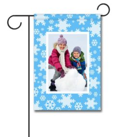 Snowflakes  - Photo Garden Flag - 12.5'' x 18''