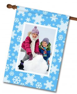 Snowflakes  - Photo House Flag - 28'' x 40''
