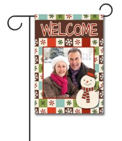 Snowy Welcome  - Photo Garden Flag - 12.5'' x 18''