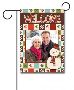 Snowy Welcome  - Photo Garden Flag - 12.5'' x 18''