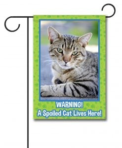 Spoiled Cat- Photo Garden Flag - 12.5'' x 18''