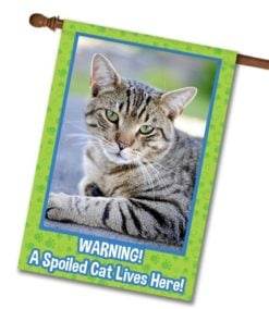 """Spoiled Cat - Photo House Flag 28""""x40"""""""