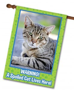 "Spoiled Cat - Photo House Flag 28""x40"""
