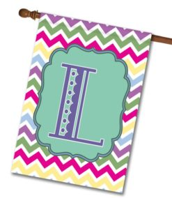 "Spring Chevron  - Monogram House Flag 28""x40"""