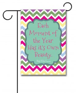 Spring Chevron  - Quote Garden Flag - 12.5'' x 18''