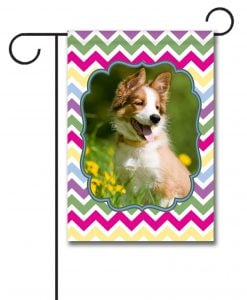 Spring Chevron  - Photo Garden Flag - 12.5'' x 18''
