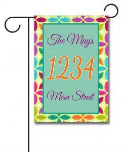 Spring Leaves  - Address Garden Flag - 12.5'' x 18''