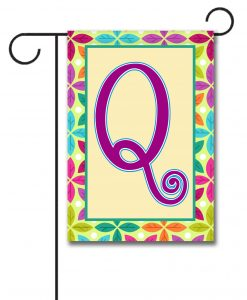 Spring Leaves  - Monogram Garden Flag - 12.5'' x 18''