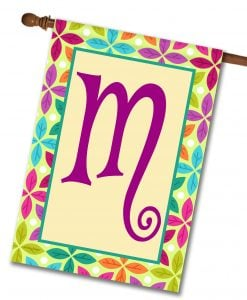 Spring Leaves   - Monogram House Flag - 28'' x 40''