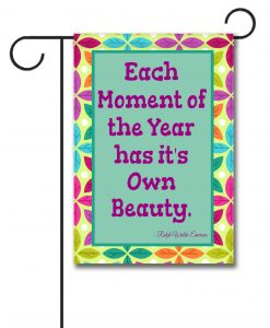 Spring Leaves  - Quote Garden Flag - 12.5'' x 18''