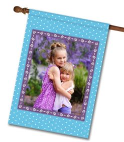Springtime Blue  - Photo House Flag - 28'' x 40''