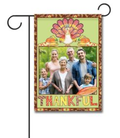 Thankful Turkey- Photo Garden Flag - 12.5'' x 18''