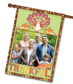 "Thankful Turkey - Photo House Flag 28""x40"""