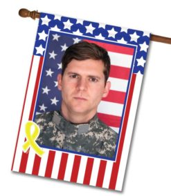 USA Yellow Ribbon - Photo House Flag - 28'' x 40''