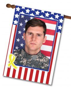 USA Yellow Ribbon - Photo House Flag - 28'' x 40''