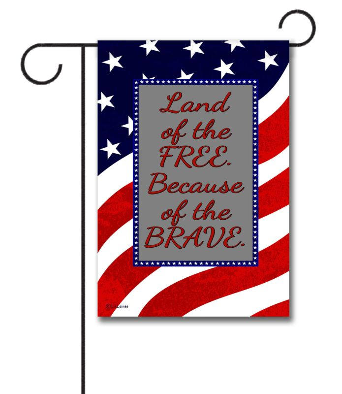 Waving Flag   - Quote Garden Flag - 12.5'' x 18''
