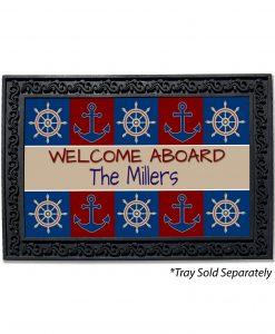Welcome Aboard Monogram Doormat