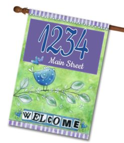 "Welcome Birds- Address House Flag 28""x40"""