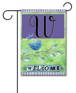 Welcome Bird  - Monogram Garden Flag - 12.5'' x 18''