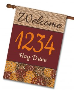"Flowers & Burlap  - Address House Flag 28""x40"""
