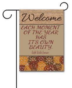 Flowers & Burlap  - Quote Garden Flag - 12.5'' x 18''