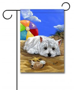 West Highland Terrier Beach - Garden Flag - 12.5'' x 18''