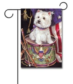 West Highland Terrier Patriotic- Garden Flag - 12.5'' x 18''