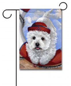 West Highland Terrier Sailor - Garden Flag - 12.5'' x 18''