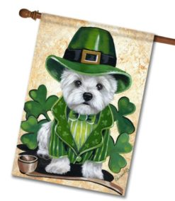 West Highland Terrier St. Patrick's Day - House Flag - 28'' x 40''