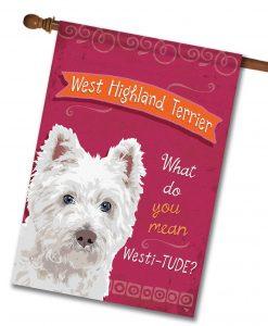 West Highland Terrier- House Flag - 28'' x 40''