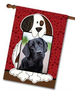 "Doggie Photo - Photo House Flag 28""x40"""