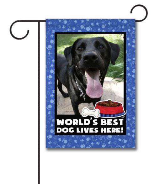 World's Best Dog - Photo Garden Flag - 12.5'' x 18''