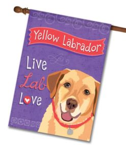 Yellow Labrador Live Lab Love- House Flag - 28'' x 40''