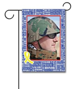 Patriotic Yellow Ribbon- Photo Garden Flag - 12.5'' x 18''