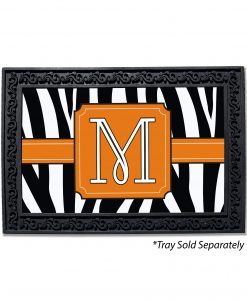Zebra Stripes Monogram Doormat